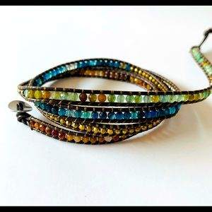 Gemstone Beaded Multi Wrap Artisan Made Bracelet